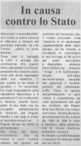 Articolo LIFE dicembre 2007