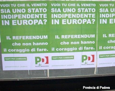 manifesto partito democratico per lo stato indipendente del veneto provincia di padova