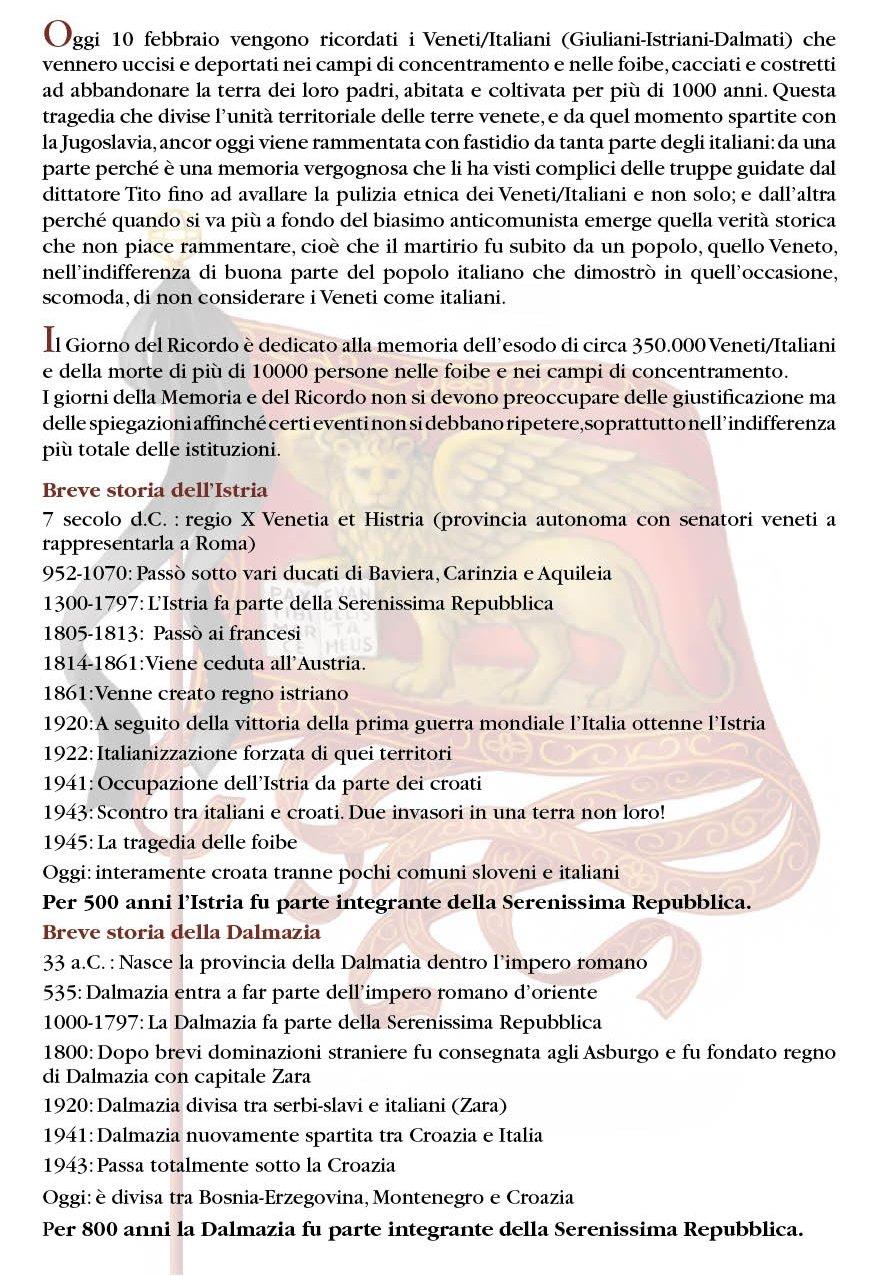 storia di istria e  dalmatia