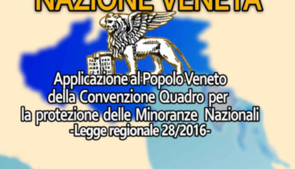 Presentazione dei nuovi diritti del popolo veneto con la legge regionale 28 del 2016
