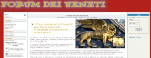 sito Forum dei Veneti