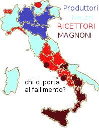 grafico delle regioni virtuose e dei territori spreconi a gennaio 2014