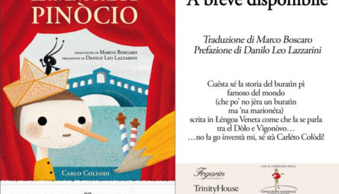 Pinocchio in Lingua Veneta – presentazione il primo settembre 2018 a Dolo (VE)
